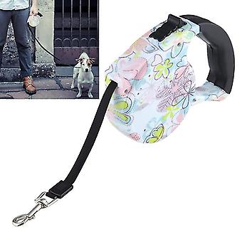5m Narcissus Pattern Flexible Retractable Dog / Cat Leash for Daily Walking
