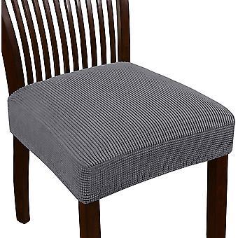 Stretch jacquard stol sätesöverdrag för matsal stolsstol slipcovers avtagbara tvättbara stol stol kudde slipcovers, grå