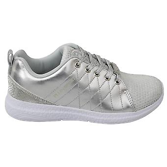 Gisella silver polyester sneakers shoes