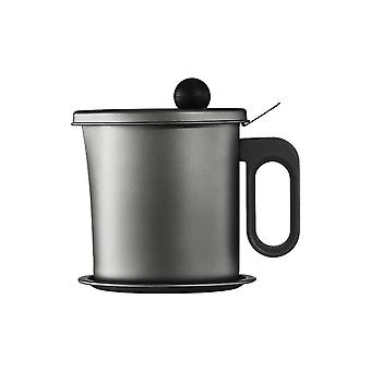 Oil Strainer Pot Grease Container Oil Storage Can Large Capacity Oil Separator Storage Tank With