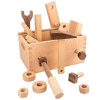 Simulazione riparazione Carpenter Scatola degli strumenti in legno Finger Play Set