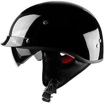 Semi-Open Motorcycle Helmet - Harley Helmet-Locomotive Half-Scooter Helmet Retro Personality