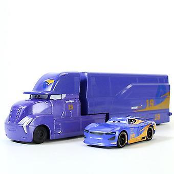 2pcs Racing Car 3 Daniel Racing Car Container Trailer Truck Alloy Toy