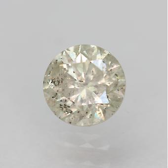 Certified 0.51 Carat H SI2 Round Brilliant Enhanced Natural Diamond 4.84mm 3VG