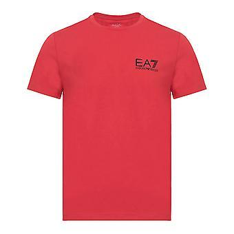 Men's Short Sleeve T-Shirt Armani Jeans 6ZPT52 PJ18Z Red