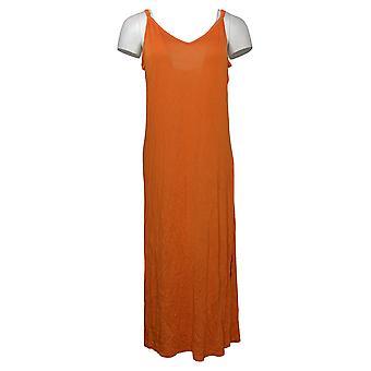 Rara Avis par Iris Apfel Robe Cami avec fentes latérales Orange 656690