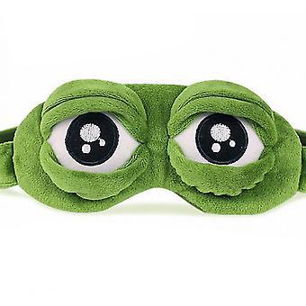 أقنعة العين لينة 3D الضفدع النوم قناع العين غطاء العين السفر الكرتون الرموش الطويلة ظلال العيون هدية معصوب العينين للفتيات النساء