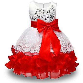 Nyári lányok fél virág labda ruhák ruha, stílus 1 csecsemő