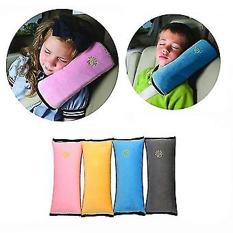 Travel pillows baby pillow car safety belt shoulder strap cushion pad head support pink