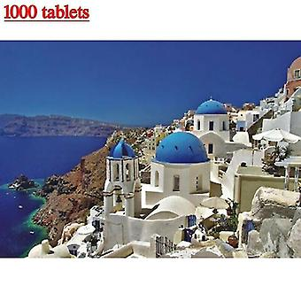 Card games 1000pcs jigsaw puzzle aegean sea scenery kids adults toy educational family game