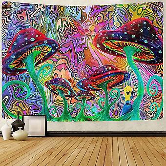 Home decor decals oil painting tapestry psychedelic mushroom wall hanging tapestries for living room bedroom home