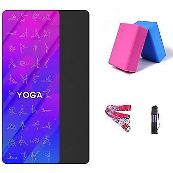 Modern miljövänlig fitnessyoga och träningsmatta med 2 gratis yogablock