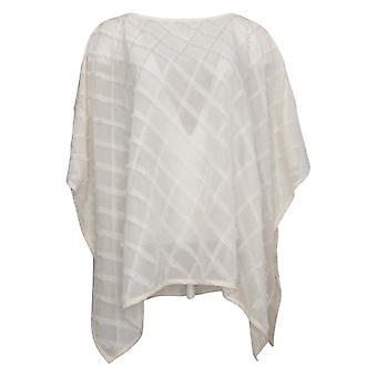 WynneLayers by Marla Wynne Women's Sweater Fringe Pullover Ivory 682654