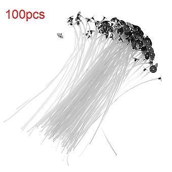 100pcs/pack 2.5/4/5/6/7/9/15/20cm 無煙キャンドルウィックプレワックスコットンコアオイルランプキャンドルウィック