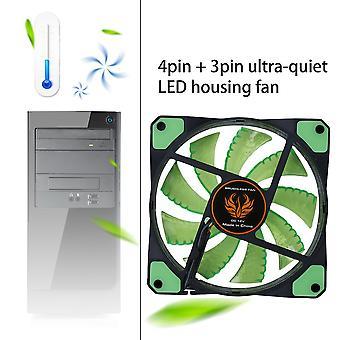 120mm ledet ultra stille datamaskin pc tilfelle vifte 15 led 12v enkel installert