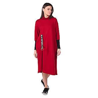 Turtleneck Claret rød kvinners svette kjole