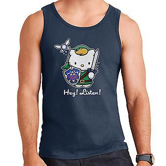 Hey Listen Link Hello Kitty Zelda Men's Vest