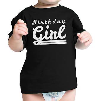 Compleanno ragazza t-shirt t-shirt neonato grafica nera manica corta cotone