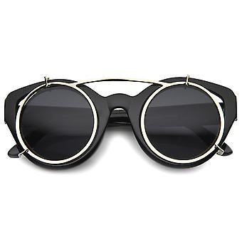 メンズ特大サングラス UV400 保護複合レンズ付き