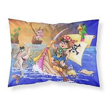 Boy Playing Piriate with Dolphin Fabric Standard Pillowcase