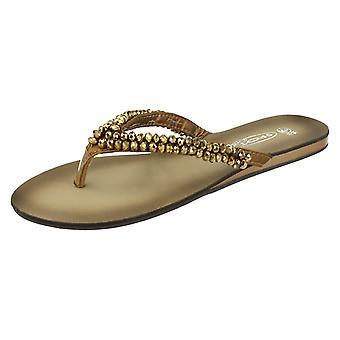 Ladies flekk på juveler tå innlegg sandaler