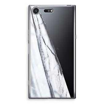 Sony Xperia XZ Premium-transparentes Gehäuse (Soft) - gestreift Marmor
