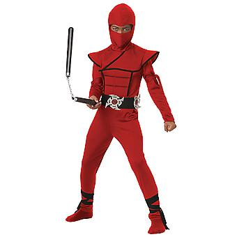 Stealth Ninja Japanese Warrior Red GI Joe Mortal Kombat Karate Boys Costume