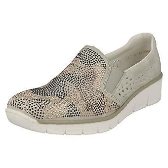 Ladies Rieker Casual Slip på Loafers 537T1