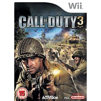 Call of Duty 3 (Wii) - New