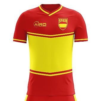 2020-2021 Spanje Vlag Home Concept Voetbalshirt
