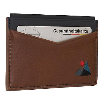 FOSSIL Herren Kreditkartenetui Kartenetui Lederetui Cognac 6561