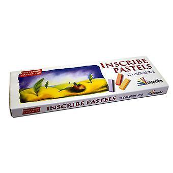 Inscribe Artist Soft Pastels Set of 32 Colours