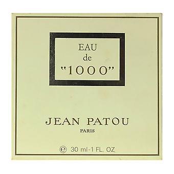 """Jean Patou Eau de """"1000"""" Splash 1,0 Oz/30 ml em caixa (90% cheio)"""