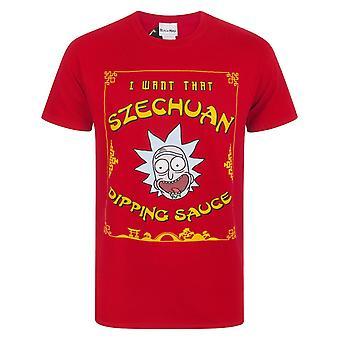Rick And Morty Mens Szechuan Dipping Sauce T-Shirt