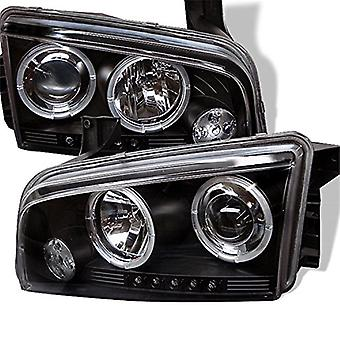 Spyder Auto Dodge Charger Black Halogen LED Projector Headlight