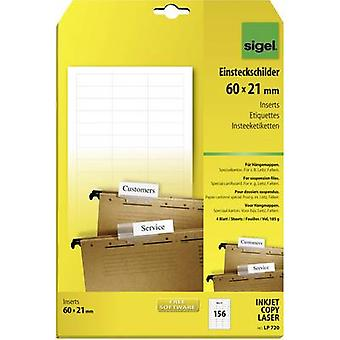 Sigel LP720 Suspension file tag insert 60 cm x 21 mm