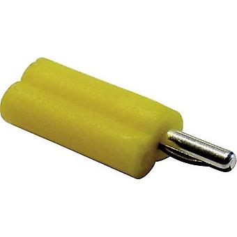 Schnepp F 2020 Banana plug Plug, straight Pin diameter: 2 mm Yellow 1 pc(s)