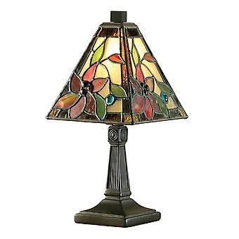 Interiors 1900 Lelani Single Square Kegel Schatten Tiffany Glas Tischleuchte