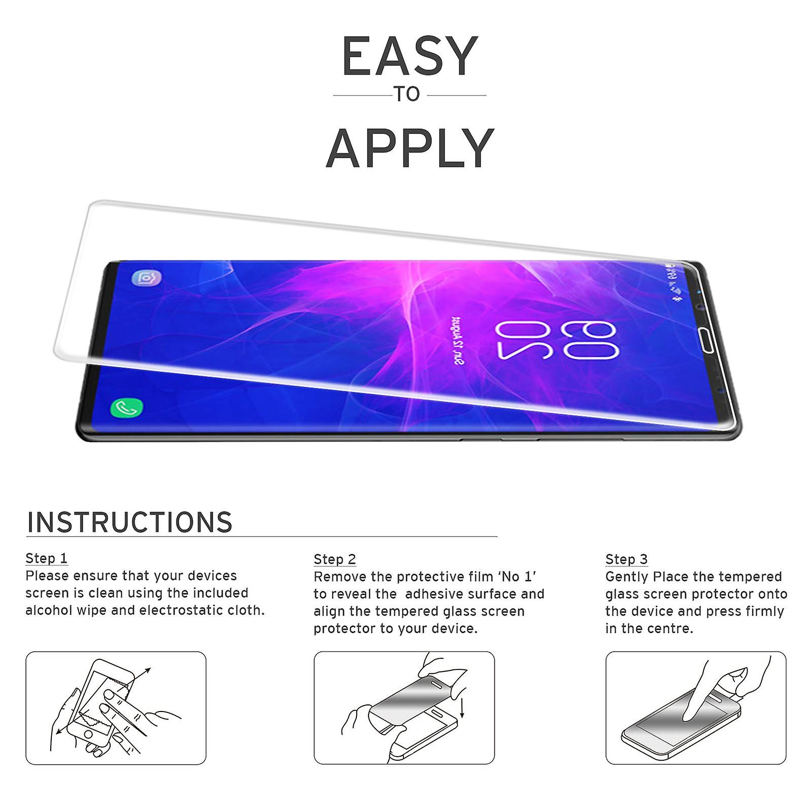 Extra Tempered Glass for Samsung Galaxy Note 9 (3D) - Clear (2 Pack)
