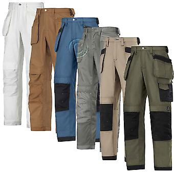 Snickers Trousers with Kneepad & Holster Pockets. Canvas+(4 Col/L-XL Leg)-3214D