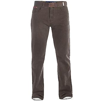 Duke London Mens Brian King Big Tall taille Bedford cordon Jeans pantalon avec ceinture
