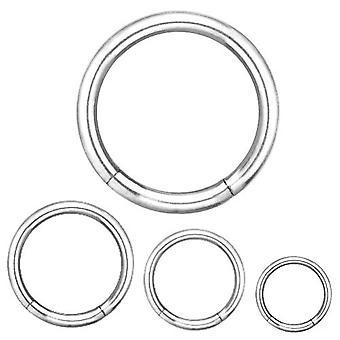 Segment Ring Piercing lichaam sieraden, dikte 1,2 mm | Diameter 6-12 mm
