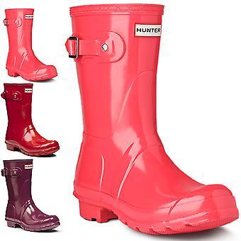 Womens Hunter Original Short Gloss Winter Festival Rain Wellington Boots
