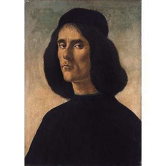 Portrait of Michele Marullo, Sandro Botticelli, 60x40cm