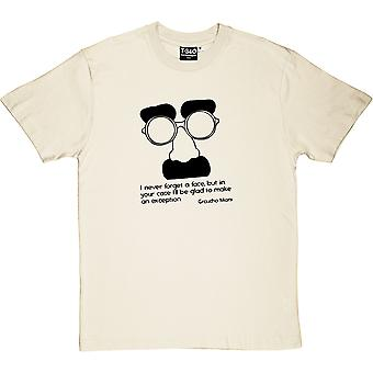 Groucho Marx Natural men ' s T-shirt