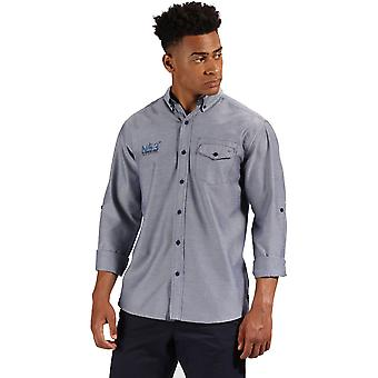 Regatta Mens Benan Oxford lange mouw knop omhoog Shirt