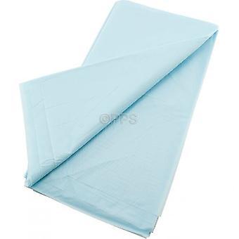 Pack de 2 cubiertas de tabla plástico luz azul 54 pulgadas x 54' pulgadas de paño de tabla reutilizable
