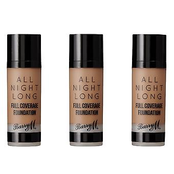Barry M 3 X Barry M All Night Long Full Coverage Foundation - Hazelnut
