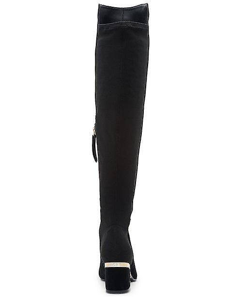 DKNY dame Cora mandel tå knæ høje mode støvler