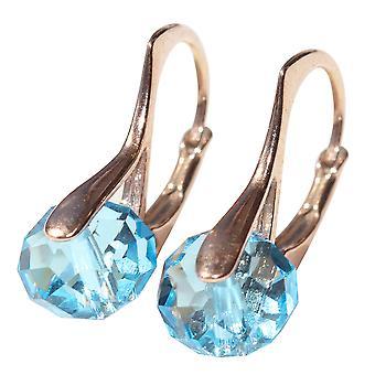 Женский потрясающий Briolette круглый кристаллы из серьги Сваровски
